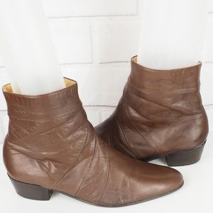Stacy Adams sz 11 brown leather dressy heeled boot